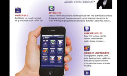 """""""Massy en poche"""", l'application iPhone de la ville de Massy dans l'Essonne."""