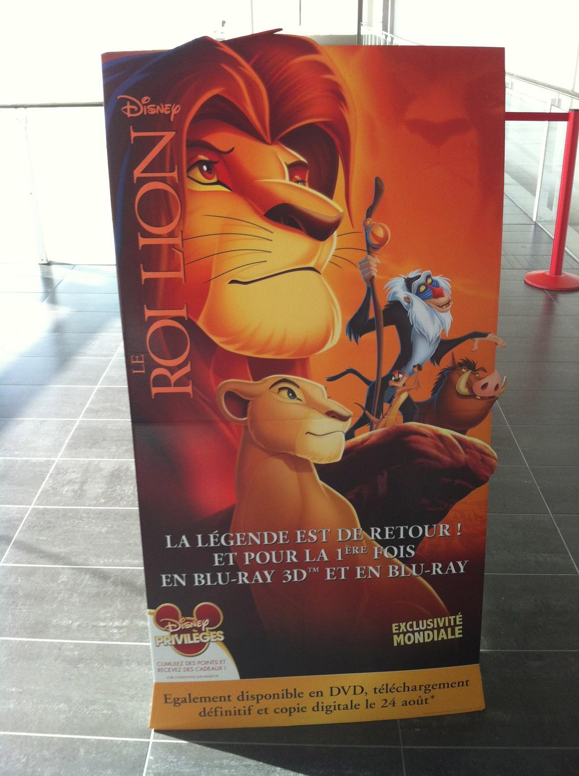 Sortie DVD, Blu-ray et Blu-ray 3D du Roi Lion le 24 août 2011. Retour sur la projection du film en 3D au MK2 Bibliothèque (Concours inside) 5