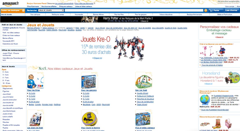 On ne présente plus Amazon, mais connaissez vous l'univers des boutiques Jeux, Jouets et Puériculture ? (Concours Inside)
