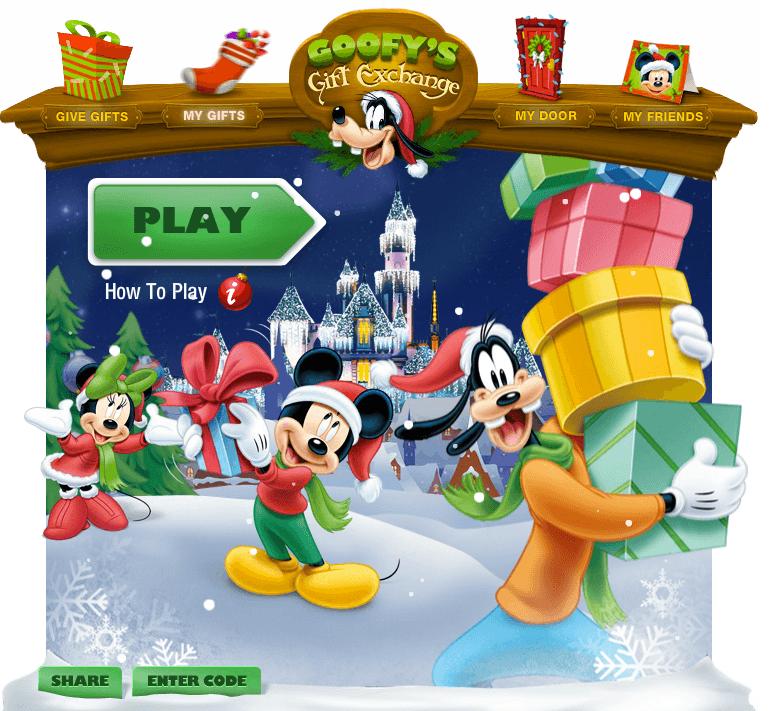 Disneyland Holidays propose un nouveau jeu social sur Facebook : Goofy's Gifts Exchange. 1