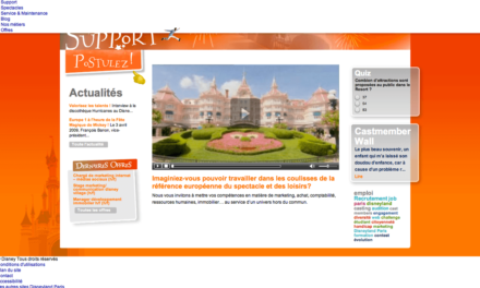 Vous rêvez de travailler sur le Social Media à Disneyland Paris? #CDI Chargé de Marketing Web – Médias Sociaux H/F