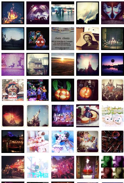 Retrouver les plus belles photos, et effectuer une veille photographique, des parcs Disneyland à travers le monde grâce à Instagram.