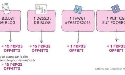 Les blogueurs se mobilisent pour les Restos du Coeur. Edition 2012.