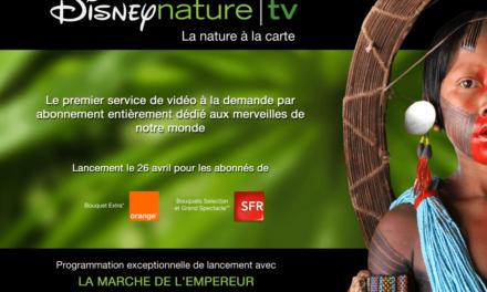 Lancement de Disneynature tv, un service de vidéo à la demande par abonnement, le 26 avril 2012, pour les abonnés de la TV d'Orange et de SFR