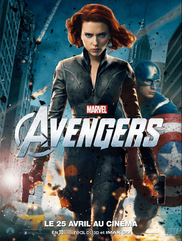 Marathon Marvel - Affiche The Avengers - La Veuve Noire