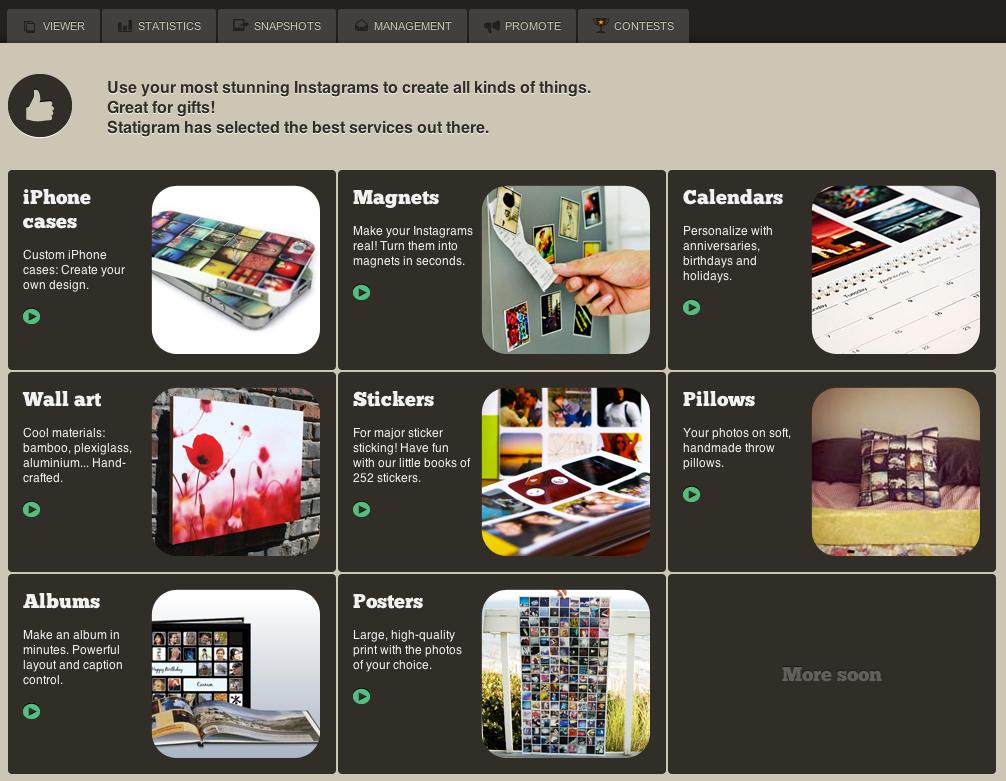 Les services qui permettent de matérialiser sa galerie photo Instagram