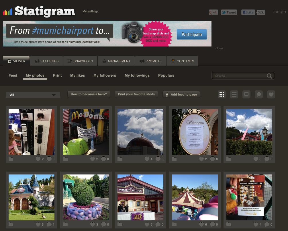 Visualiser votre galerie sur un navigateur via Statigram