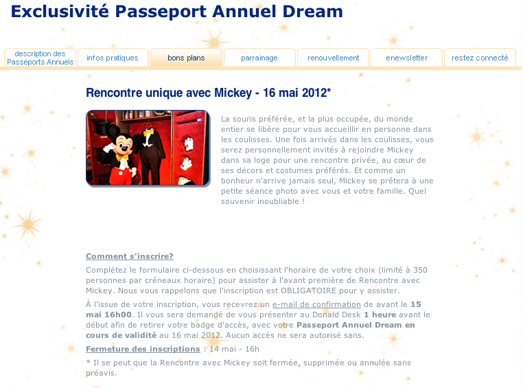 Rencontre avec Mickey - 16 Mai 2012