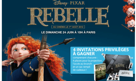 Avant Première du nouveau film des studios Disney Pixar REBELLE le 24 Juin 2012 à 10H avec Disney Privilèges.