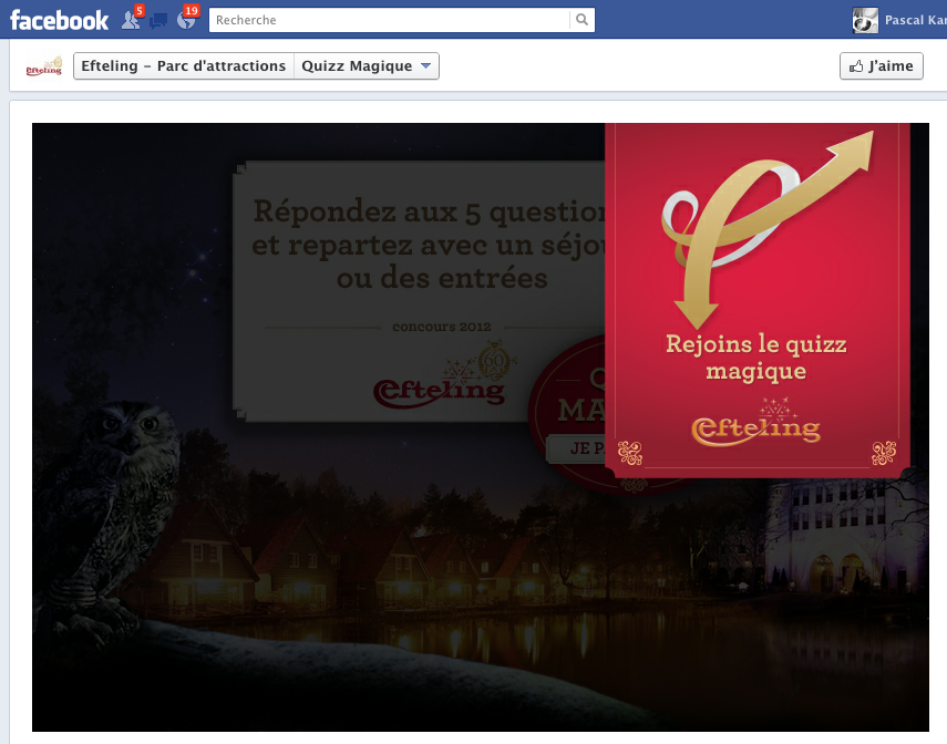 Concours Page Facebook Efteling