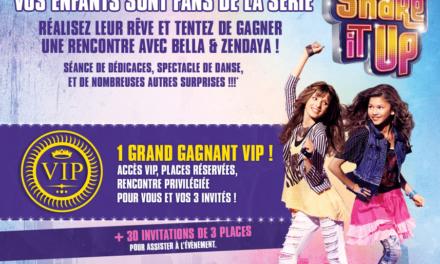 Disney vous propose de gagner une rencontre avec les héroïnes de la série Shake It Up à Paris le 23 Mai 2012.