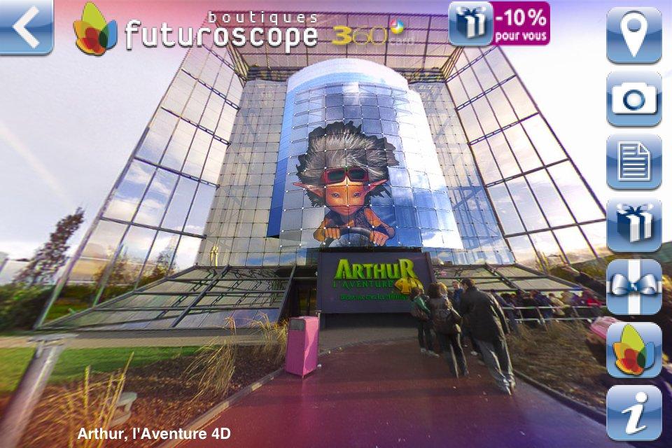 Application iPhone Futuroscope 360 - 360 sur Arthur l'aventure 4D
