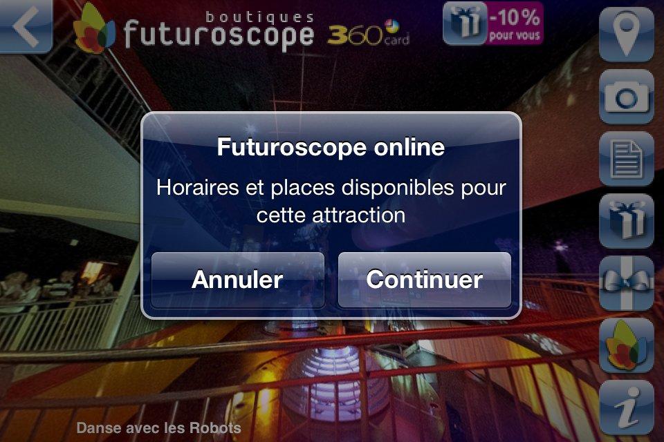 Application iPhone Futuroscope 360 - Accès au site .Mobi