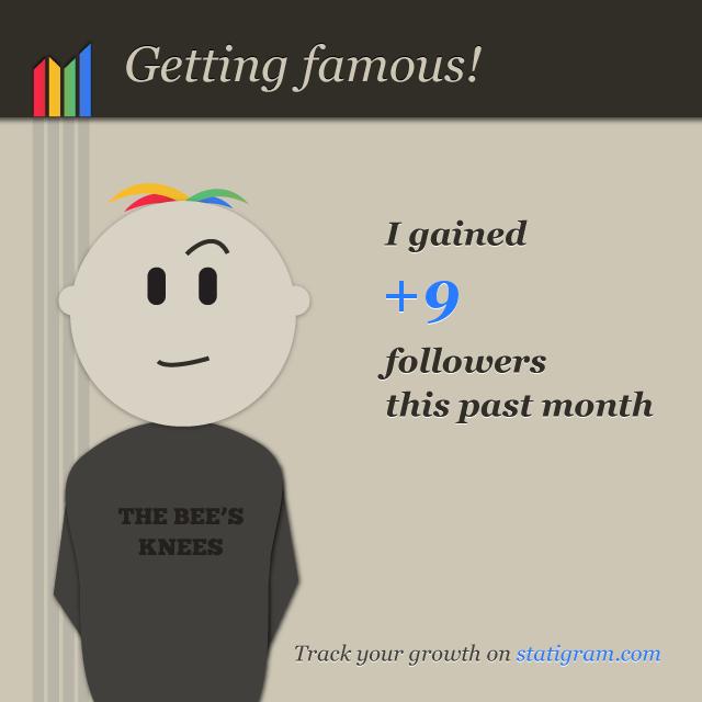 Getting famous - L'évolution du nombre de followers