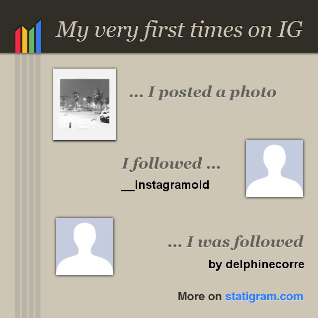 My very first times on IG - Mes premières fois sur Instagram