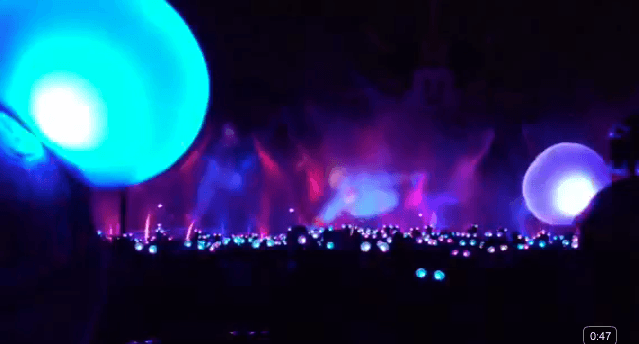 Extrait vidéo Youtube World of Color : Aladdin Sequence