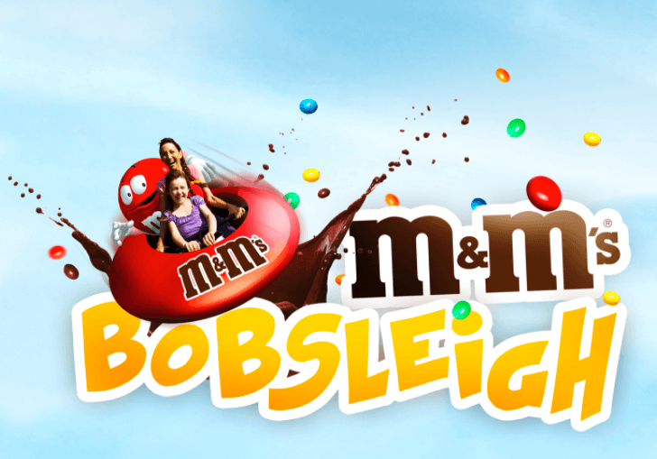 Adsland - Theme Park about advertising - M&Ms Bobsleigh