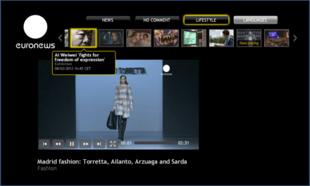 La chaîne d'information Euronews participe au lancement mondial de Google TV.