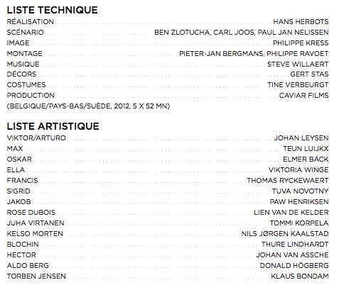 Casting et liste technique The Spiral Arte