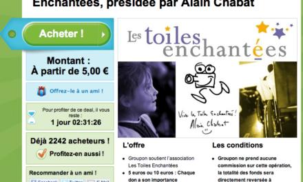 Groupon met un coup de projecteur sur l'association Les Toiles Enchantées