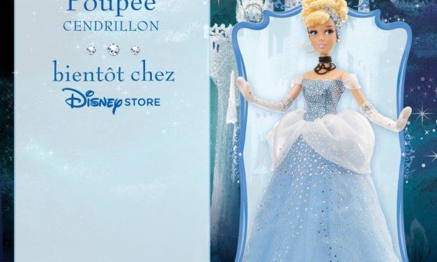 Poupée de collection Cendrillon. Edition limitée à 5000 exemplaires uniquement sur le site Disney Store dès le 02 Octobre 2012.