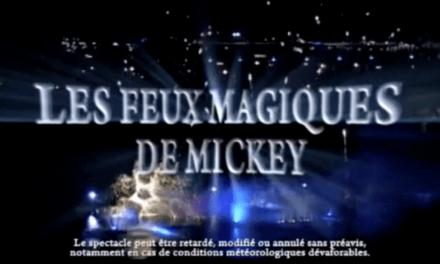 Les Feux Magiques de Mickey, spectacle pyrotechnique gratuit au Disney Village de Disneyland Paris les 5, 7 et 9 novembre 2012 à partir de 21h15