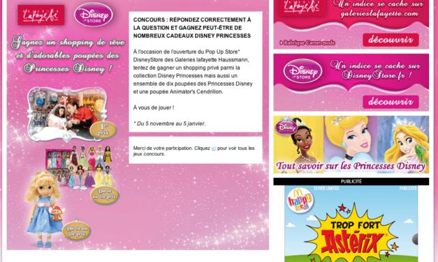Disney s'invite, dans des espaces dédiés, à la FNAC et aux Galeries Lafayette