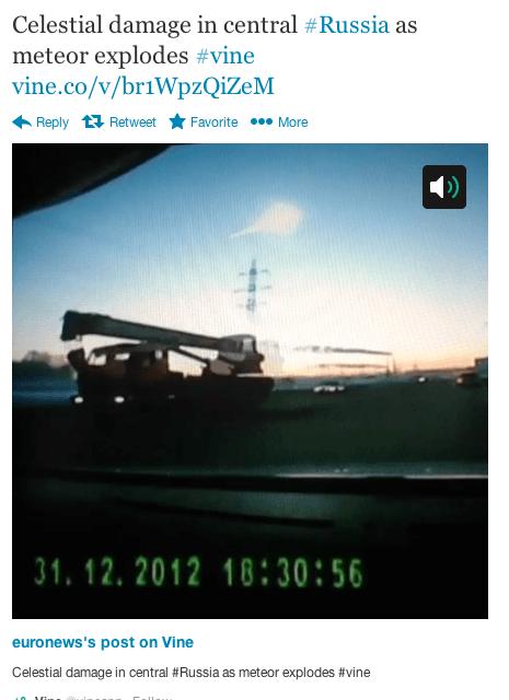 Lancement de «Euronews Vine of the Day». Une vidéo de 6 secondes par jour sur un évènement marquant de la journée.