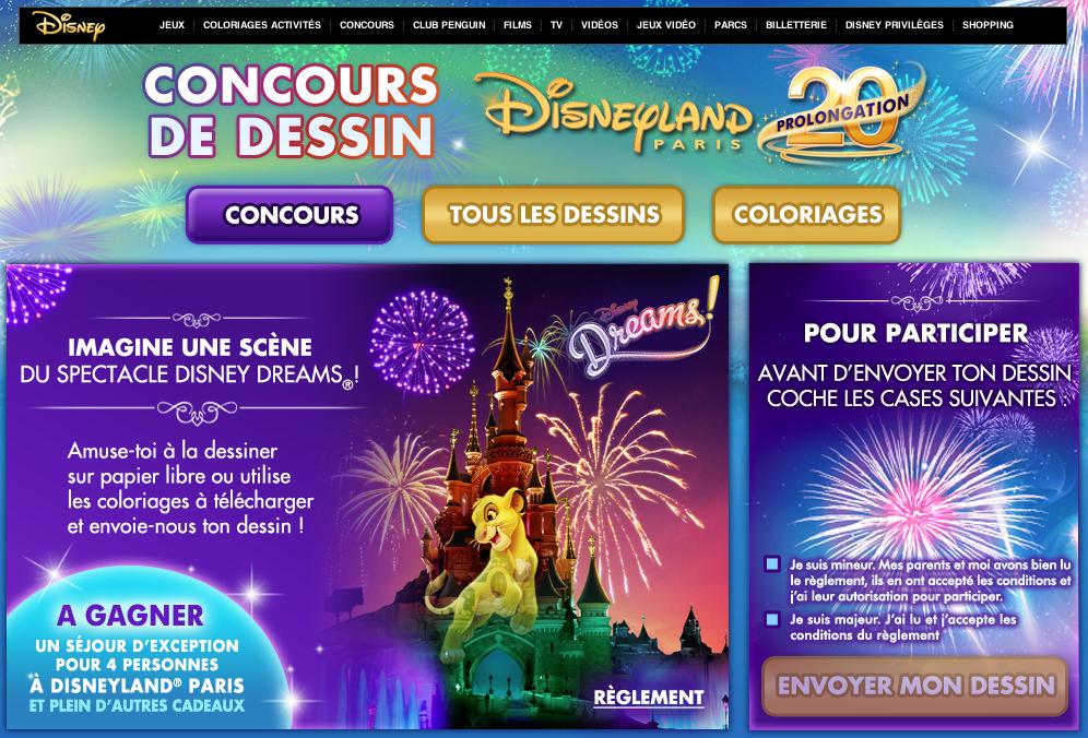 Concours Disney Dreams 1