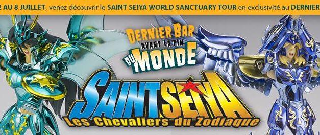Bandai et Cosmic Group France annoncent l'événement 10th Anniversary Saint Seiya World Sanctuary Tour du 2 au 8 juillet au Dernier Bar Avant la Fin du Monde.