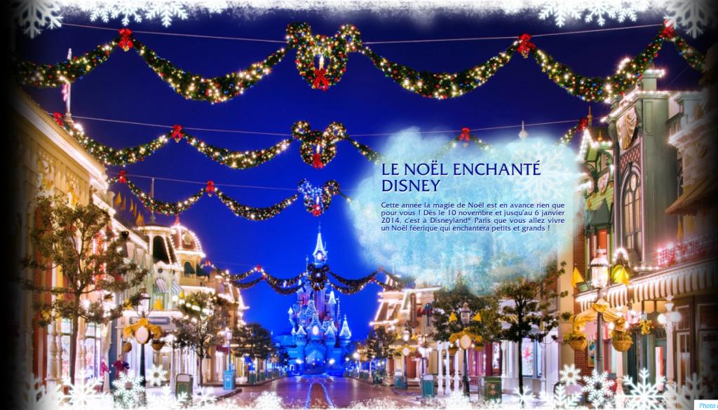 Decors de Noel Disneyland Paris