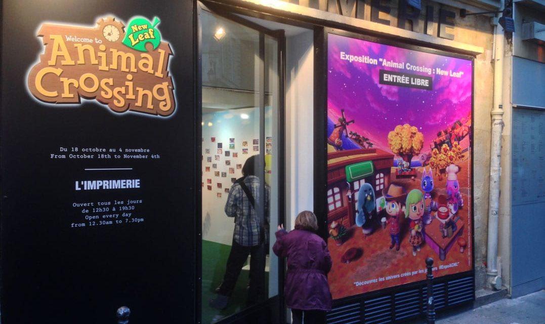 Découverte de l'exposition participative autour du jeu Nintendo 3DS « ANIMAL CROSSING : NEW LEAF ». Chronique d'un vernissage marqué par le hashtag #ExpoACNL.