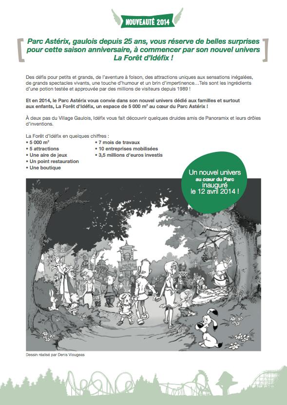 Parc Asterix Nouveautes 2014