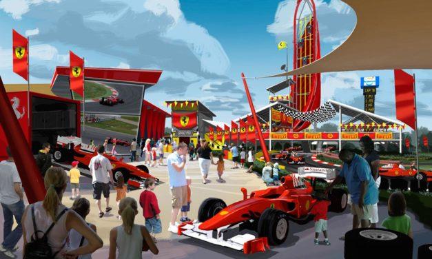 """Le parc à thèmes espagnol PortAventura annonce """"FERRARI LAND"""", un concept autour du célèbre constructeur automobile."""