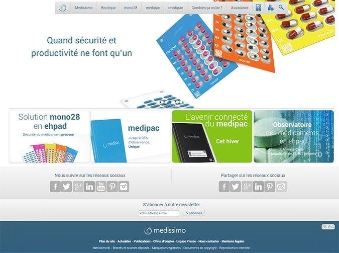 La page d'accueil Medissimo.fr