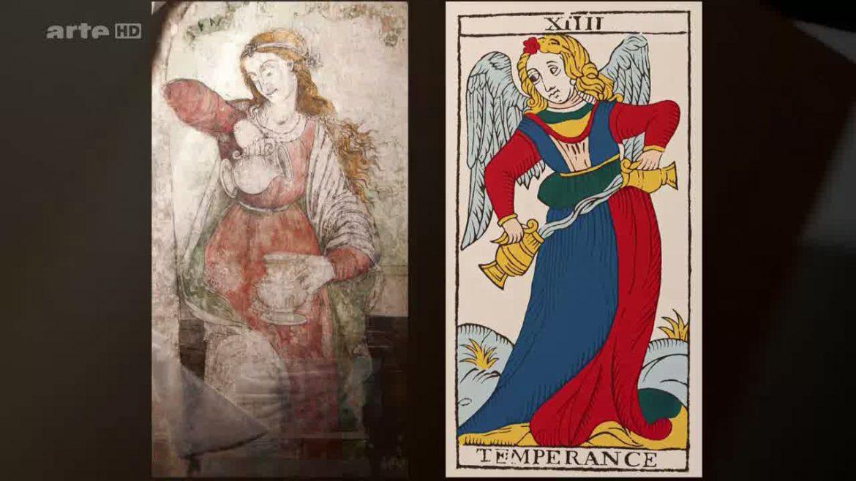 Ressemblance frappante entre la fresque de Boticelli et la Tempérance