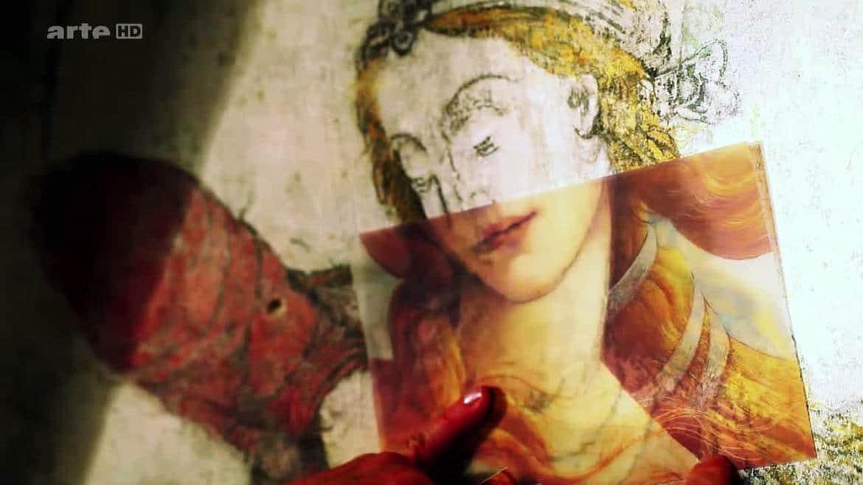 Peinture de Boticelli et de la Tempérance : comparaison des 2 visages