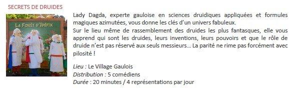 Parc Asterix Secrets des druides