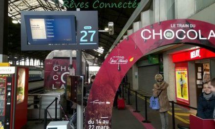 La SNCF innove avec Train-Expo et le Train du Chocolat. Visite lors de son escale à Paris Saint Lazare.