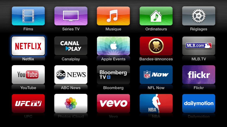 Présent sur l'Apple TV sans que je n'ai à télécharger quoi que ce soit... Parfait !