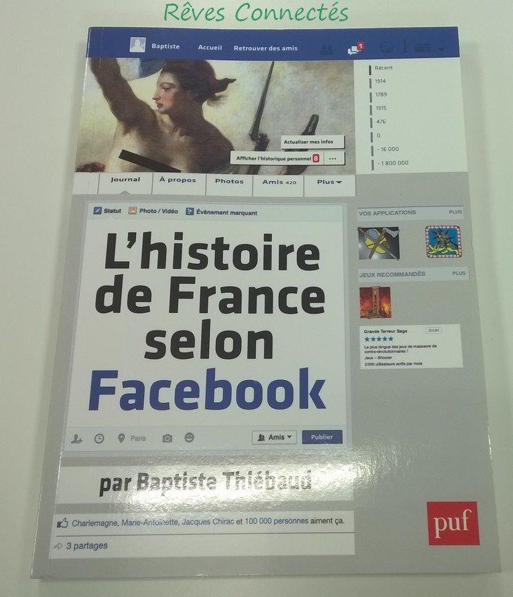 """""""L'Histoire de France selon Facebook"""" Couverture"""