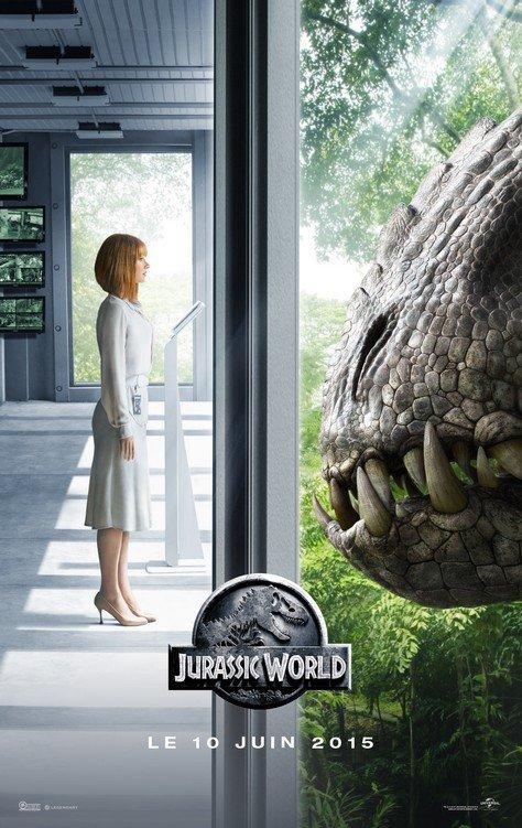 Jurassic World JW - Affiche Claire & D Rex