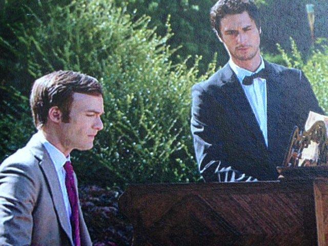 Fabrice (au piano) et Philippe