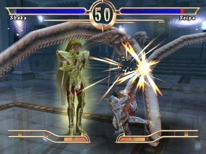 Saint Seiya Le Sanctuaire, jeu Atari sur PS2.