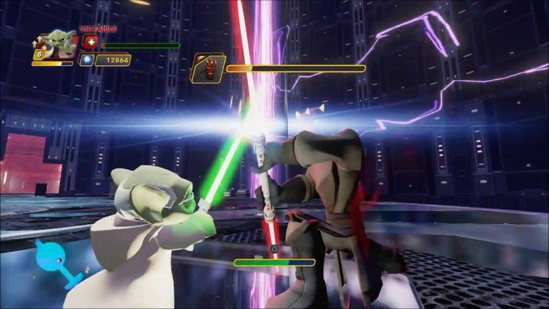 Duel of the Fates. Yoda contre Dark Maul dans Disney Infinity 3.0
