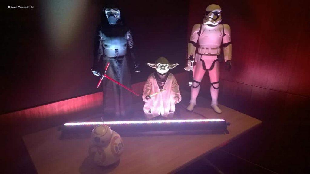 Présentation Soirée Star Wars Night Disneyland Paris - Yoda, Stormtrooper, et Kylo Ren