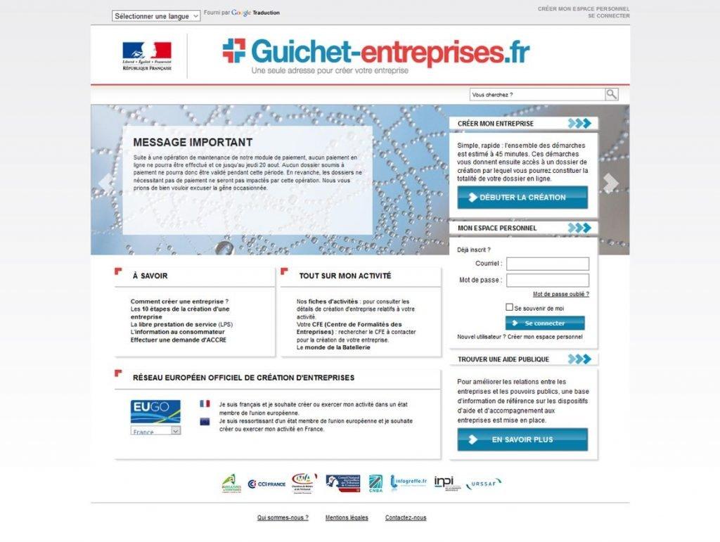 Guichet Entreprises - Une seule adresse pour créer son entreprise
