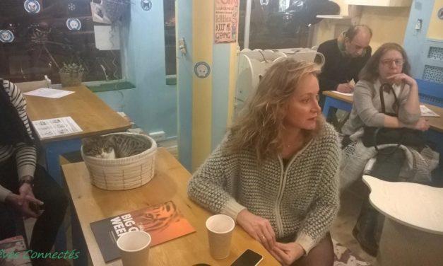 Rencontre avec Julie Ferrier au Chat Mallows Café à l'occasion de la BIG CAT WEEK de Nat Geo Wild.