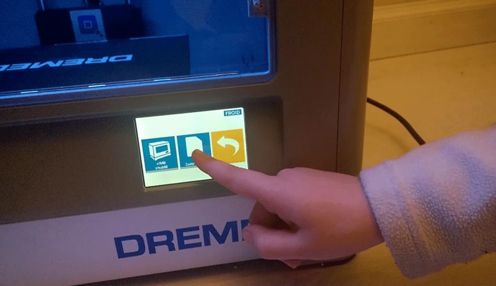 Dremel 3D Ideal Builder, écran tactile