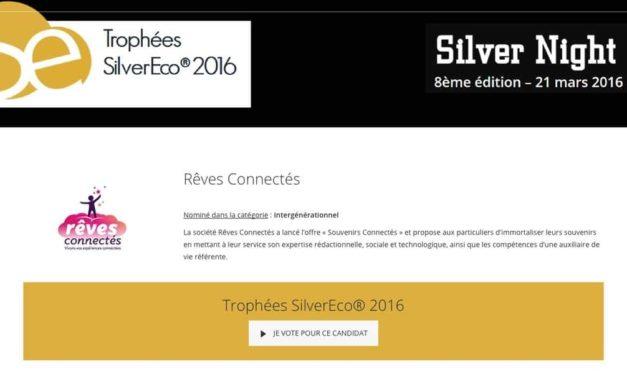 Votez pour soutenir Souvenirs Connectés aux Trophées SilverEco 2016 !